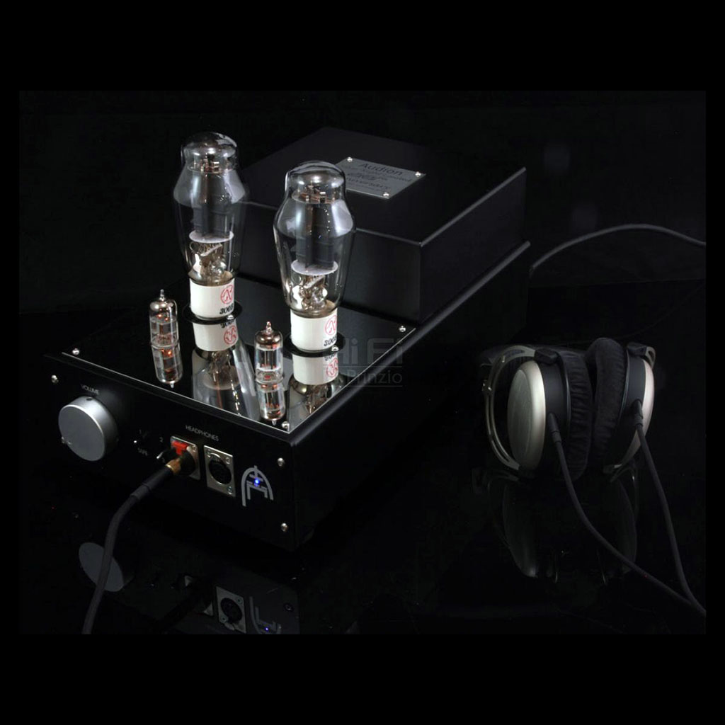 Audion Silver Night HP1 hard wired 300B integrated headphone amplifier.